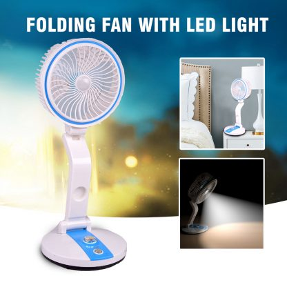 Rechargeable Folding Fan With LED Light in BD